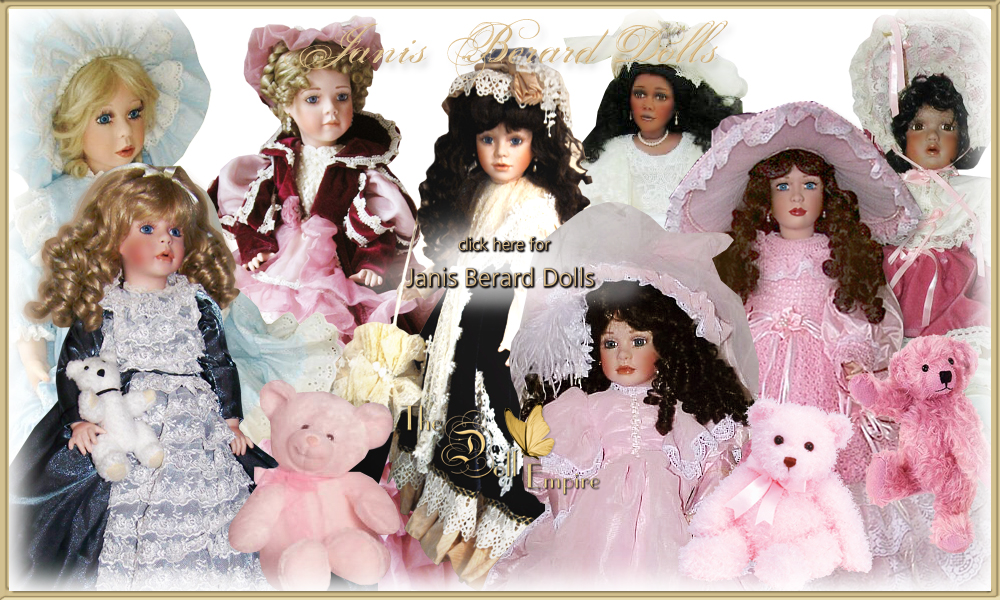 Janis Berard Dolls · Limited Edition Full-Body Porcelain Lady Dolls